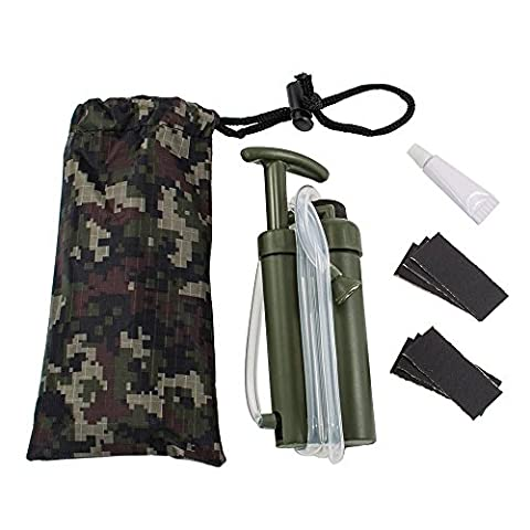 Soldier Water Filter Purifier-Easy Portable Ceramic Solider Water Filter Purifier Cleaner for Outdoor Survival Hiking Camping Emergency