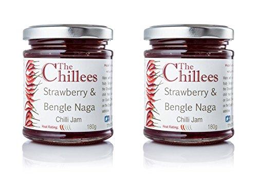 er- und Chili-Marmelade Bengle Naga   2 Töpfe 180g   Naturprodukt ohne Konservierungsstoffe   Perfekt zu Käseplatten   Gekocht bei schwacher Hitze, um Aromen zu bewahren ()