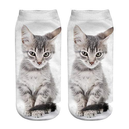 YJYDADA Socken, beliebte lustige Unisex-Socken mit 3D-Katzenmotiv h