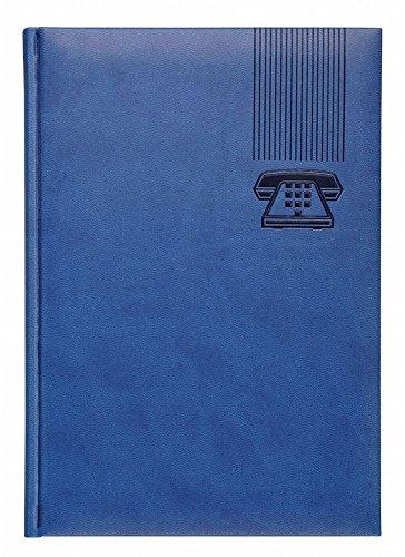 Cangini Filippi 112/300502 - Adressbuch Tucson, 14.5 x 20.5 cm, 96 Seiten, blau