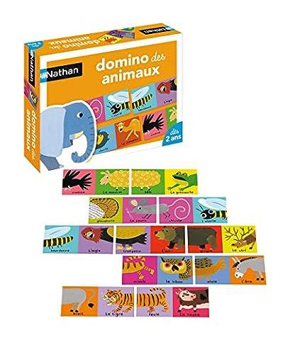 Nathan - 31038 - Jeu de société - Jeu éducatif - Domino des Animaux