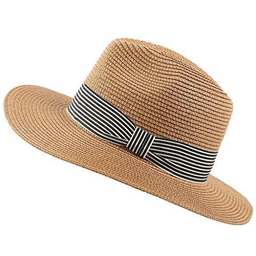 MOSERIAN Damen Herrens Hut Verstellbare Reise Sommer Sun Starw Hut Faltbarer Rand Trilby Bowler