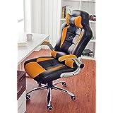 Silla de oficina Racing–Silla de escritorio silla silla de ordenador con respaldo alto piel sintética Junta