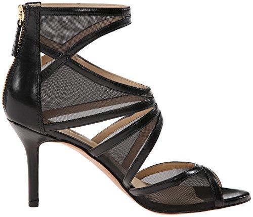 Nine West Gezzica tacco del sandalo Black/black