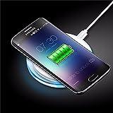 Carga inductiva Wireless cargador Qi LED inalámbrico Caterpillar CAT S50/Elephone P9000/Energy Sistem Phone Pro Qi/HP Elite X3/HTC Desire SV/HTC One Max/Kyocera Torque/LG G Flex/LG G3/LG Nexus 4/LG Nexus 5/LG V30/Lumigon T3/Medion Life X6001/RugGear rg730/Saygus V2/Vertu Aster/Vertu Constellation (2017)/Vertu New Signature Touch/Vodafone Smart 4Max/Yota YotaPhone 2y todos los smartphones con Qi