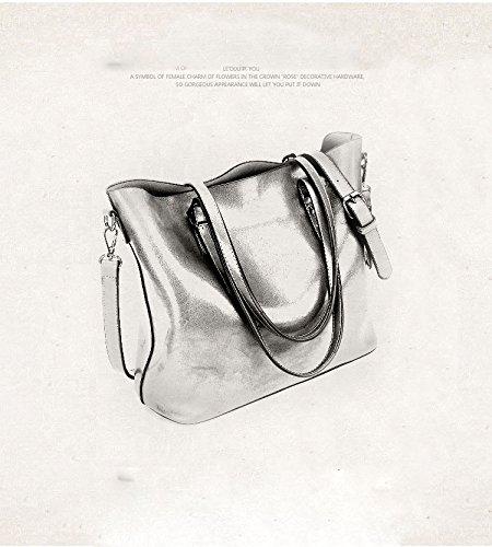 f10a1ccace0dd Seeyoulife Damen Leder Elegant Mode Große Handtasche Europäische stil  Schultertaschen Umhängetasche Shopper Tasche Henkeltasche Beuteltasche  Weich ...