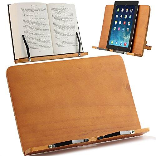 ATRIL PARA LIBROS y Soporte de Tablets | Diseñado para sujetar libros grandes y...