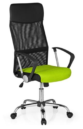 HJH Office Orion Net 685338 Silla de oficina Unisex adulto Multicolor (Negro/Verde) 82x20x59 cm