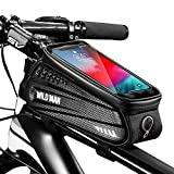 Faireach Bolsa Manillar con Soporte Móvil para Telefono Bicicleta, Bolsa Bici, Bolso Bicicleta Impermeable y con Ventana para Pantalla Táctil, para iPhone, Samsung y Otros Smartphones de hasta 6,5