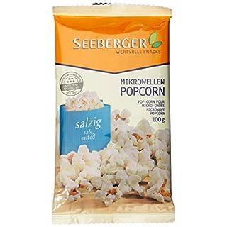 Seeberger Mikrowellen-Popcorn salzig, 11er Pack (11 x 100 g)