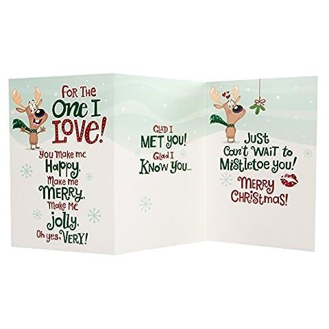 Hallmark Carte de Noël «Glad I Met You»–Taille