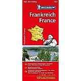 Michelin Frankreich einseitig: Straßen- und Tourismuskarte (MICHELIN Nationalkarten, Band 721)