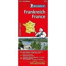 Michelin Frankreich einseitig: Straßen- und Tourismuskarte (MICHELIN Nationalkarten)