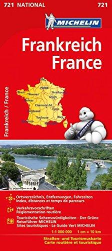 Michelin Frankreich einseitig: Straßen- und Tourismuskarte (MICHELIN Nationalkarten) Karte Von Frankreich