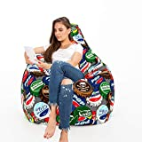 Urban Gifts Classic Cotton Canvas Digital Printed Bean Bag XXXL Without Beans