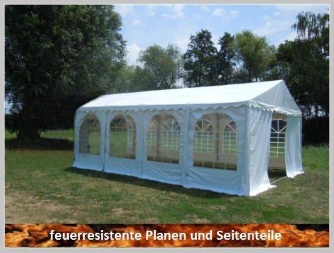 Pavillon Pavillion Festzelt Partyzelt Giant Pro PVC FR 6x8m 8x6m 6x8 8x6 mit Fenster