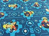 Generic Kinderstoff Disney - Digitaldruck Feuerwehrmann Sam