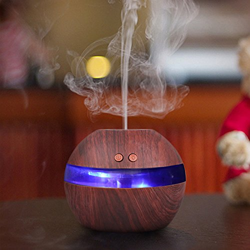 TiooDre Aromatherapy Essential Oil Diffuser, Luftreiniger Luftbefeuchter Ultraschall Aroma Diffusers Cool Mist Fragrance Lampen, Whisper Water-less oder Rollover Auto Shut-Off - Whisper Cool