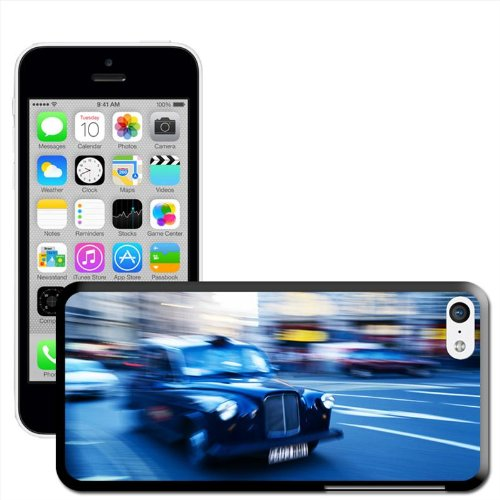 Fancy A Snuggle Coque rigide pour iPhone Motif Londres Taxi nero londinese