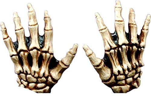 gelbe Skelett Handschuhe Halloween für (Skelett Erwachsene Für Handschuhe)