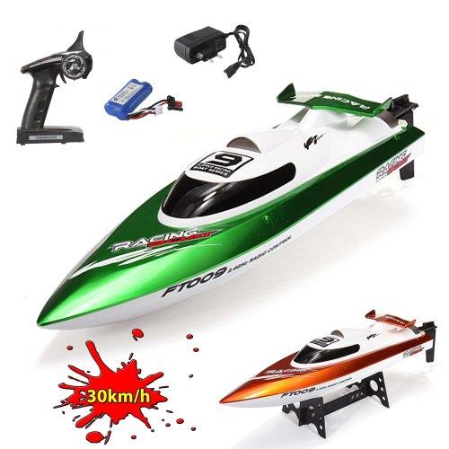 XL Speedboot Pro 2.4GHz - RC ferngesteuertes Boot mit 2,4GHz und vollproportionale Fernsteuerung, Schiff-Modell mit Top-Speed über 30km/h, Racingboat, Ready-to-Run, Top-Design, Neu