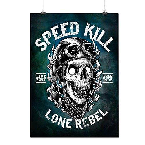 Geschwindigkeit Töten Schädel Mattes/Glänzende Plakat A3 (42cm x 30cm)   Wellcoda