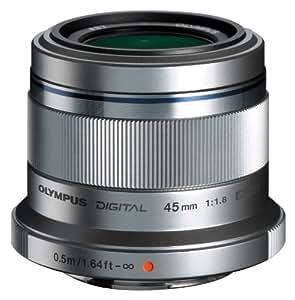 Olympus M.Zuiko Digital 45 mm 1:1.8 Objektiv silber