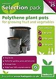 Hadopots Vaso per piante in polietilene 3 taglie (confezione da 25)