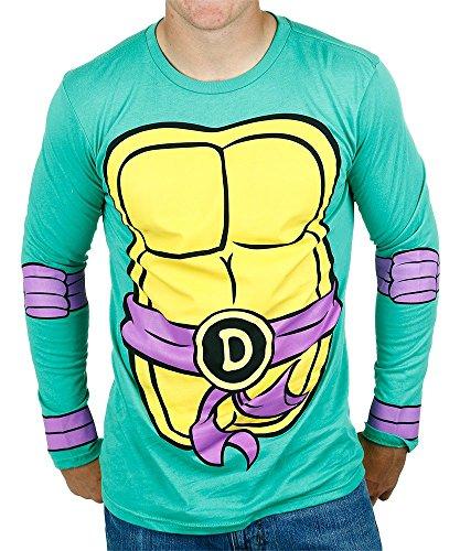 Teenage Mutant Ninja Turtles Herren Donatello Kostüm Erwachsene Longsleeve T-Shirt ()