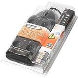 Infosec S8 Multiprise Parafoudre avec 8 Prises Noir