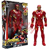 Marvel and Justice League Comic/Movie Super Hero Legends - 12 Inch Action Figure Toy with Sound and Batteries (Ironman)