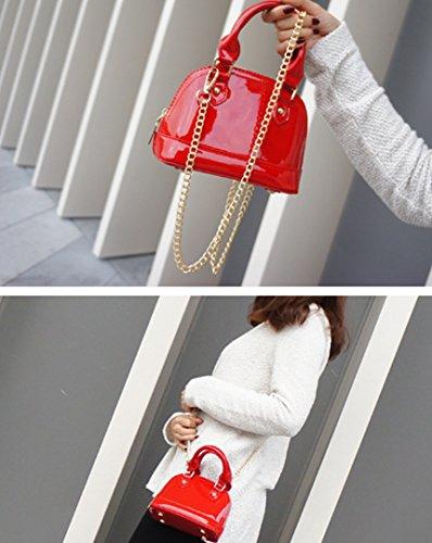 98a9df33e5bd4 ... AiSi Damen mini Lack Leder Handtasche  Damenhandtasche  Schultertasche   Crossbody Bag  Umhängetaschen  ...