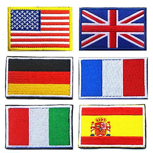luss Patches Us+europe Flag ()