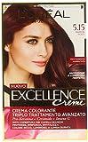 L'Oréal Paris Excellence Crema Colorante Triplo Trattamento Avanzato, 5.15 Marron Glace