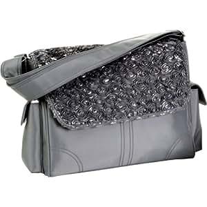 Kalencom Fashion Diaper Bag, Changing Bag, Nappy Bag, Mommy Bag (Melissa Rosebuds Silver)