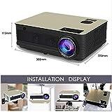 wangwtry Projektor 3000lumen Projektor Heim-Stereo-Projektor M5 LCD Full HD Standalone-Lautsprecher 1080p (Ohne System)