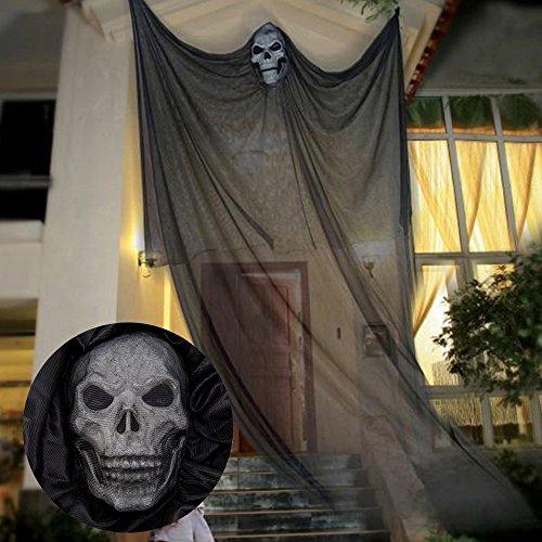 Wrightus 7ft Halloween Dekorationen Aufhängen Ghost Requisiten Scary Spooky Decor für Outdoor Innen Yard Party barsupplies schwarz