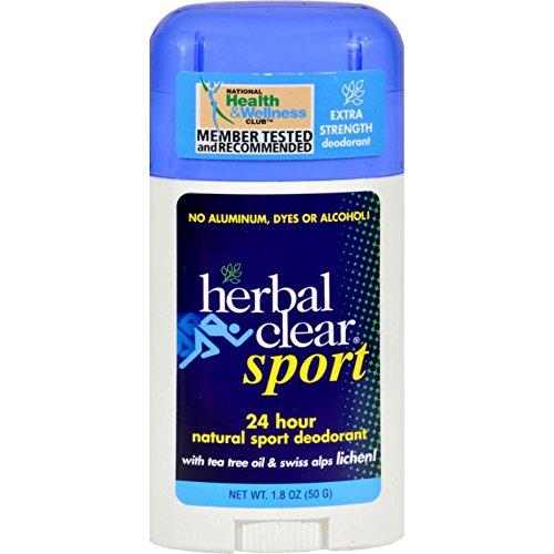 Sport, 24 h naturel Déodorant, 1,8 oz (50 g) - Herbal Effacer