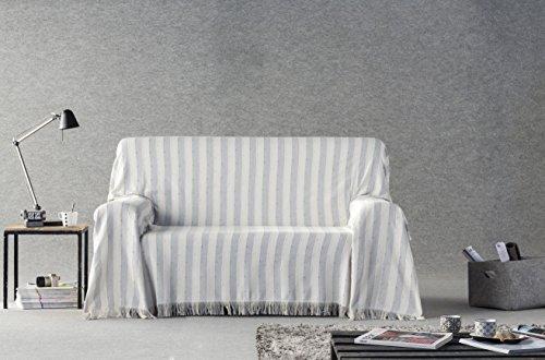 DECORACION NUEVO ESTILO- Plaid-Foulard Multiusos Toscana para Camas o sofás, tamaño 230...