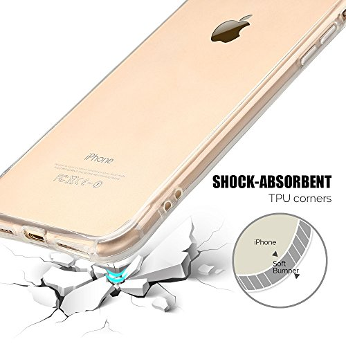 Coque iPhone 7 Plus (5.5 pouce) , TPU Transparente Case Silicone Slim Souple Étui de Protection Flexible Soft Cover Anti Choc Ultra Mince Couverture Bumper Anfire Housse pour iPhone 7 Plus - Rose limpidité