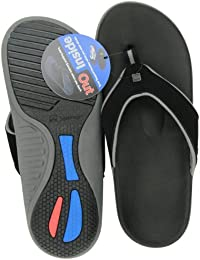 Spenco Polysorb Total Support Yumi Sandals, Black/Pewter, Men's 13 by Spenco PolySorb