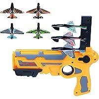 Spielzeug Pistole Flugzeug Schaum Katapult Flugzeug Kinder Outdoor-Spielzeug Handgeworfene Gyro Pistol Launcher Segelflugzeug Modell Outdoor Sports Boy Spielzeug Orange