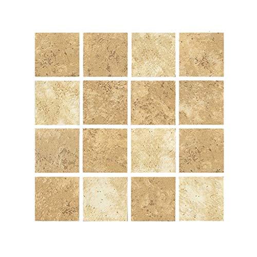 Grilsrylyna Aufkleber,1 x Mosaik Wandfliese Aufkleber,MSC005 3D Mosaik kreative Fliesenaufkleber wasserdichte Wandaufkleber Bodenaufkleber,Aufkleber für Dekoration + Full Light Shading
