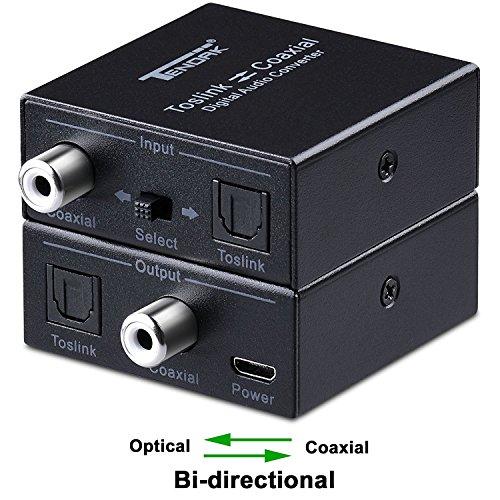 Tendak Optische SPDIF Toslink zu Koaxial or Koaxial zu Optische SPDIF Toslink Digital Audio Converter (Coax Zu Optical Audio Adapter)