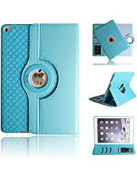 """iPad Air 3 Case,with 360 Degrees Rotating Magnetic PU Leather with Stand Feature,Full-body Protective Case Cover for iPad Air 10.5"""" (3rd Gen) 2019 / iPad Pro 10.5"""" 2017 for women/kids-Light Blue"""