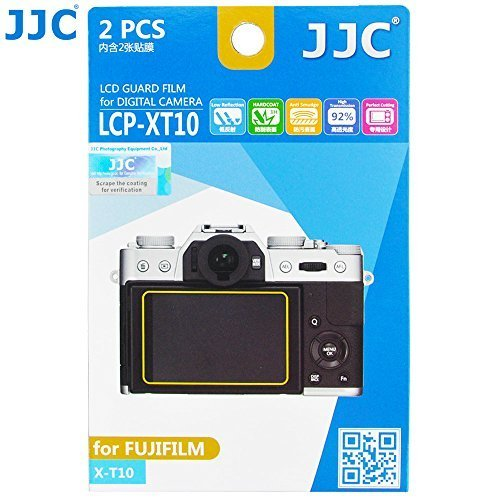 JJC 2Pcs LCD Guard PET Film Screen Protector for Fuji Fujifilm X-E3 X-T20 X-T10 / XE3 XT20 XT10 Camera Anti-scratch