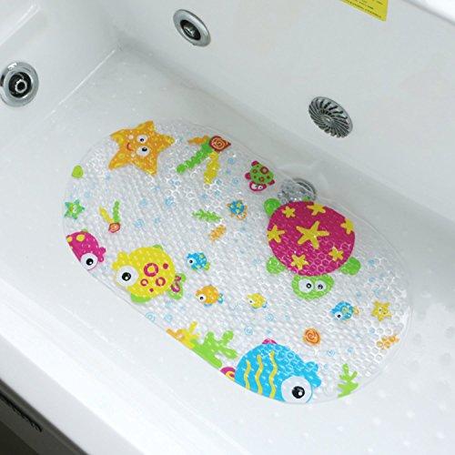 Badewanneneinlage aus PVC, rutschfest, für Kinder, mit Saugnäpfen Ocean grün
