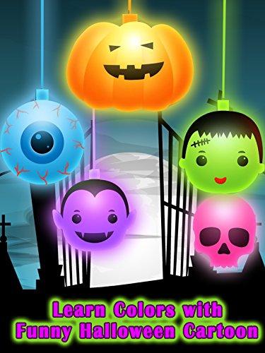 Learn Colors with Funny Halloween Cartoon [OV]