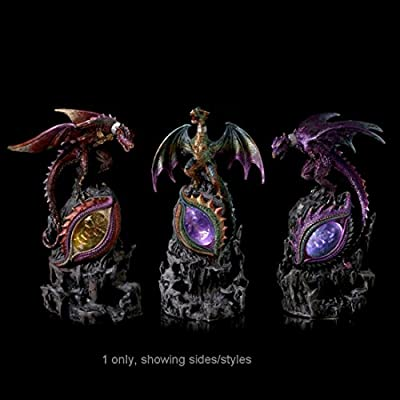 Led Rock Eye Dark Legends Dragon Figurine Our Fantasy And Gothic Dragon Range Are Great Entry