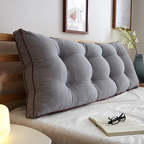 WENZHE Kopfteil Kissen Bett Rückenkissen Rückenlehne Für Bett Bettkeile Keilkissen Palettenpolster Baumwolle Rückenlehne Multifunktion Softcase, 8 Farben, 5 Größen (Farbe : 3#, größe : 180×20×50cm) - Zeitgenössische-sofa-bett